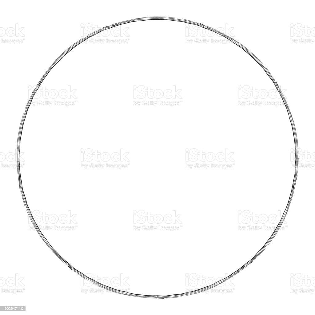 hand drawn circle stock