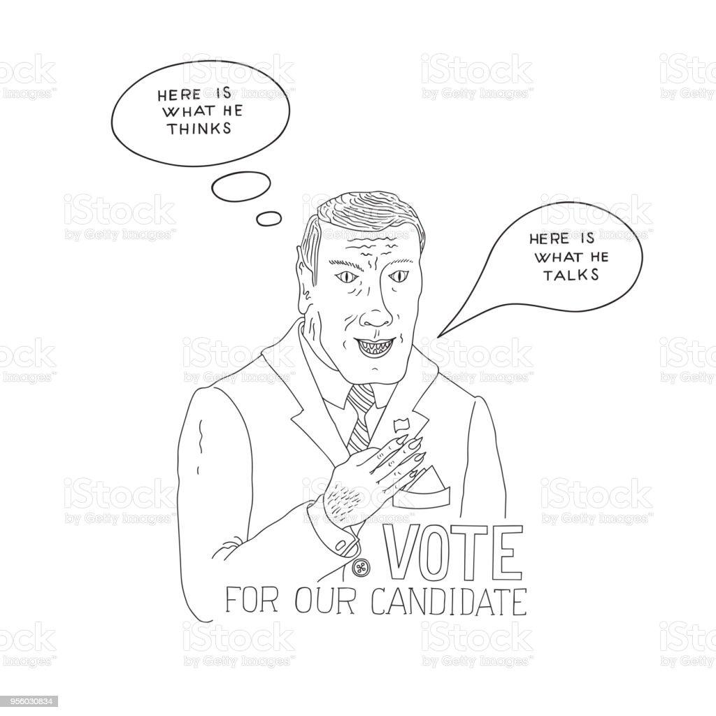 Hand Drawn Doodle Sketch Line Art Vector Illustration Of