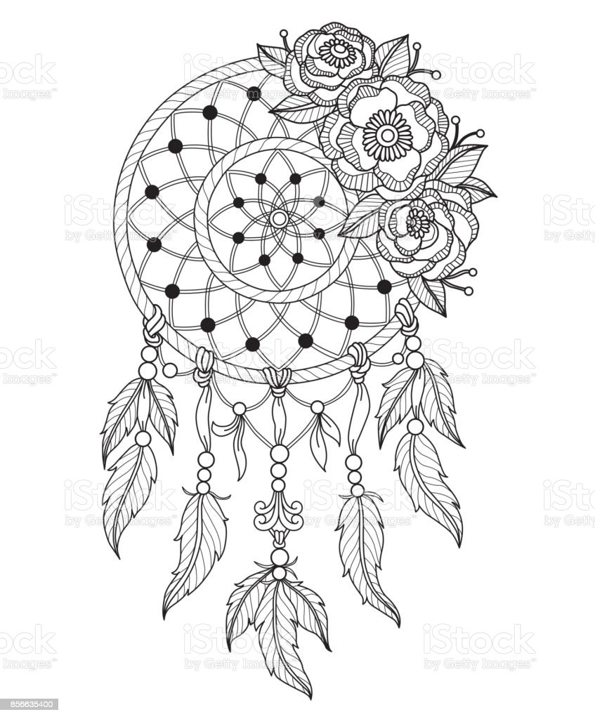 picture relating to Printable Adult Coloring Pages Dream Catchers referred to as 20+ Bouquets Coloring Webpages Printable Aspiration Catcher Programs and