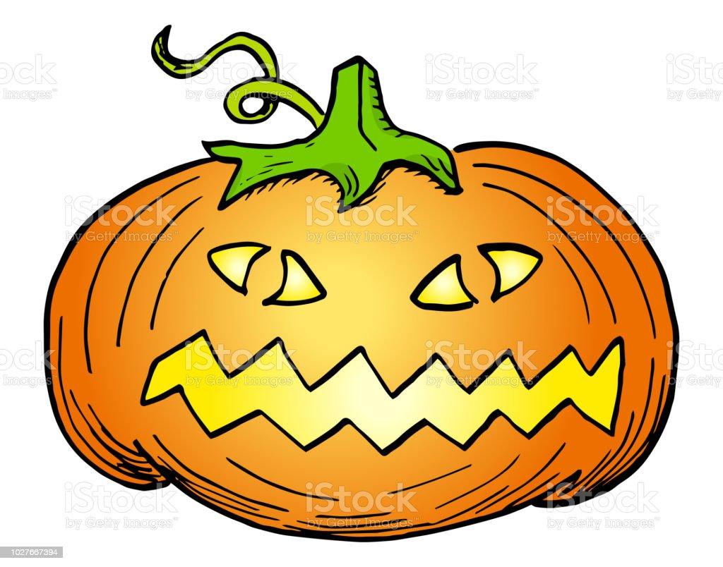 hand drawn halloween pumpkin