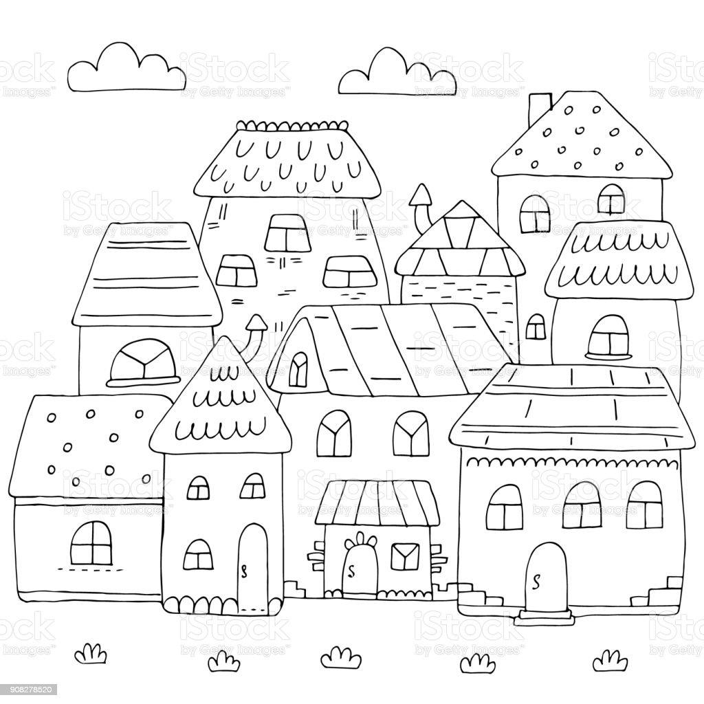 Paisagem De Cidade Para Colorir paisagem de cidade para