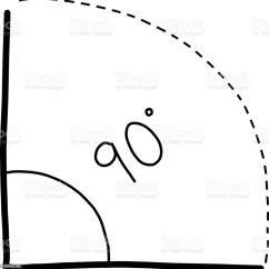 90 Degree Diagram 1998 Isuzu Rodeo Engine Hand Drawn School Themed Elements Angle Stock Illustration