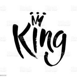 king word crown vector background lettering hand shirts decorating isolated invitations clip illustration letter ink illustrations greeting cards abstract text