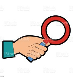 hand with search magnifying glass icon royalty free hand with search magnifying glass icon stock [ 1024 x 1024 Pixel ]