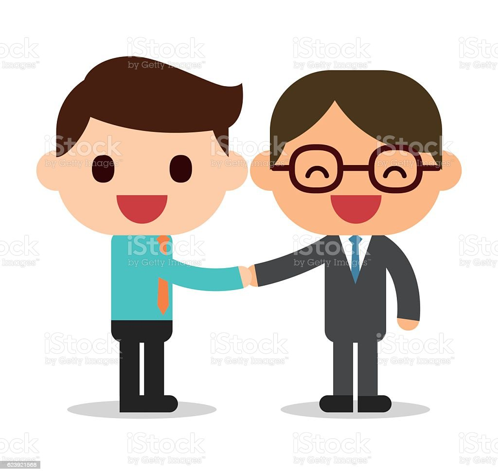 Handshake stock vector art 623921568  iStock