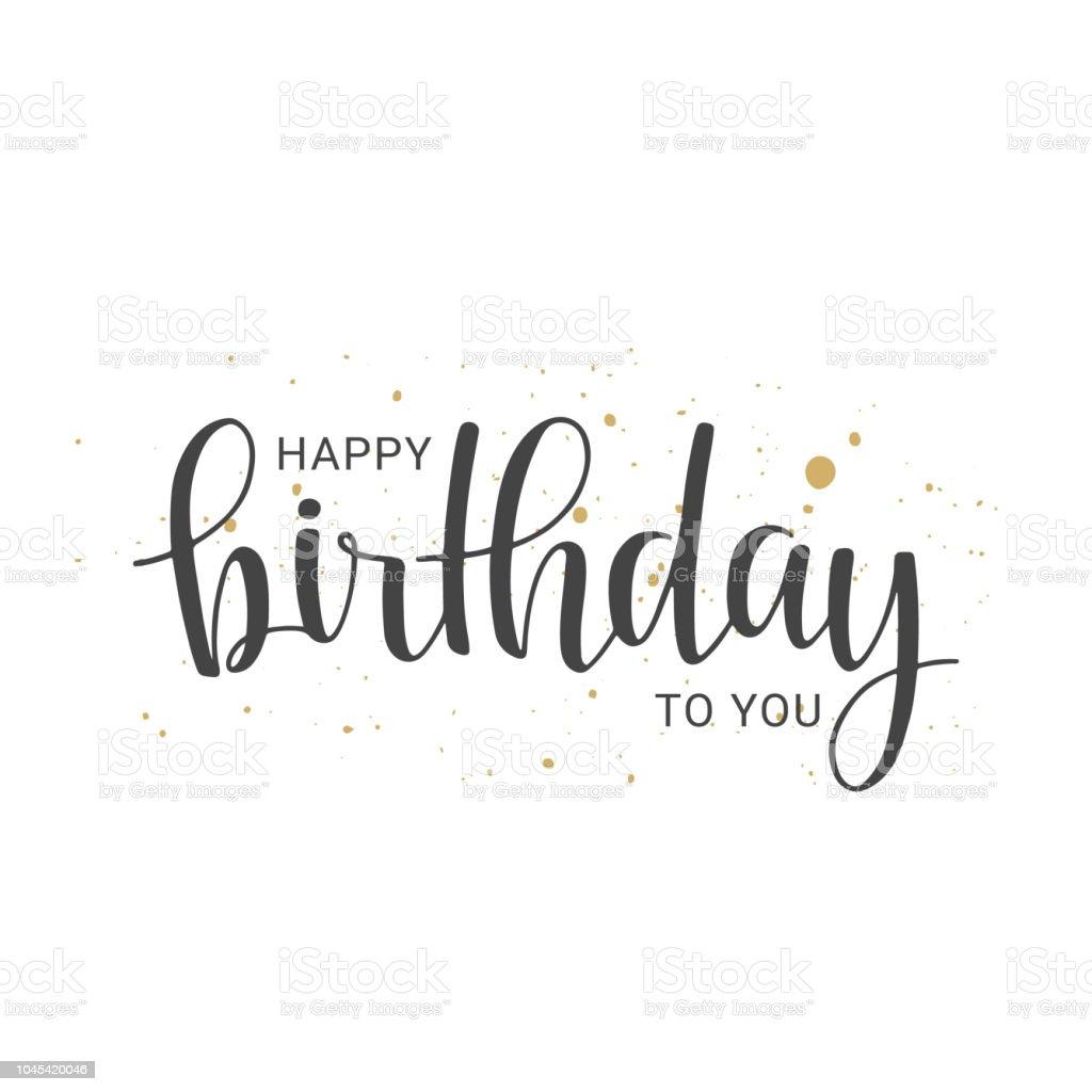 Happy Birthday Schrift