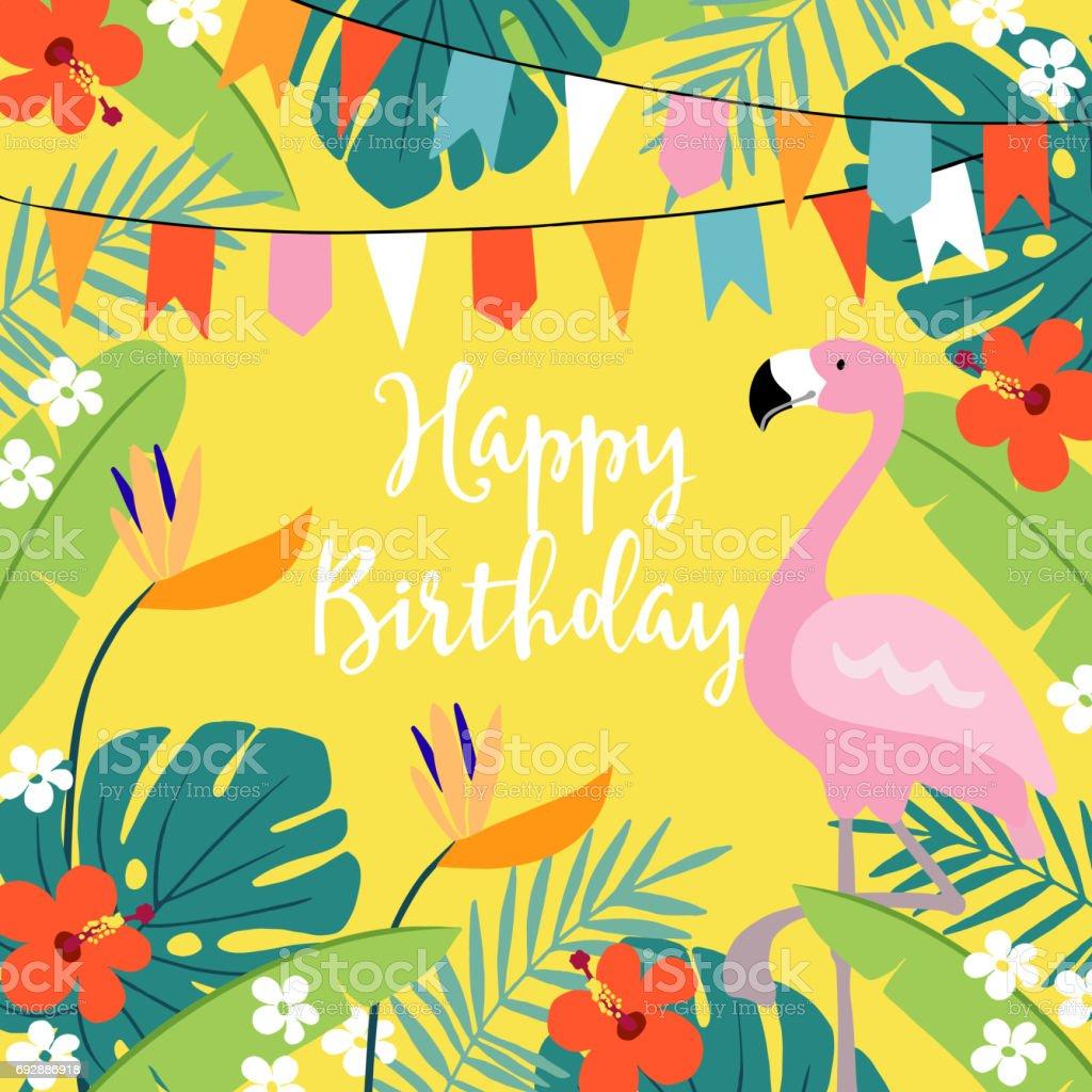 flamingo invitation free vector art 81 free downloads