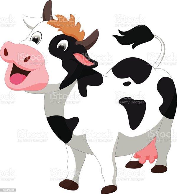 Image Cute Cartoons Cows Vectors