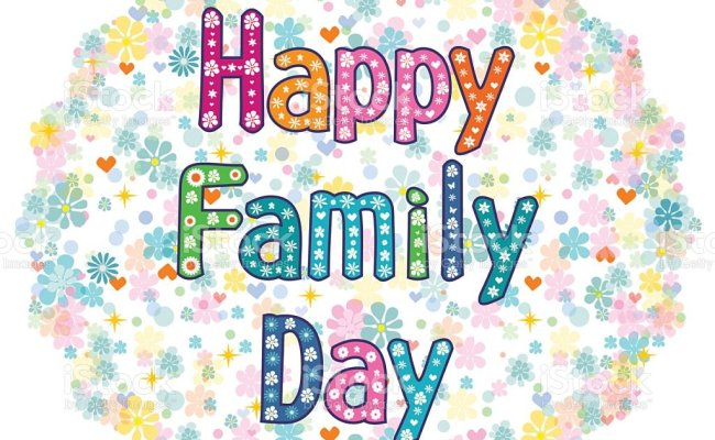 Happy Family Day Stock Vector Art More Images Of Adult