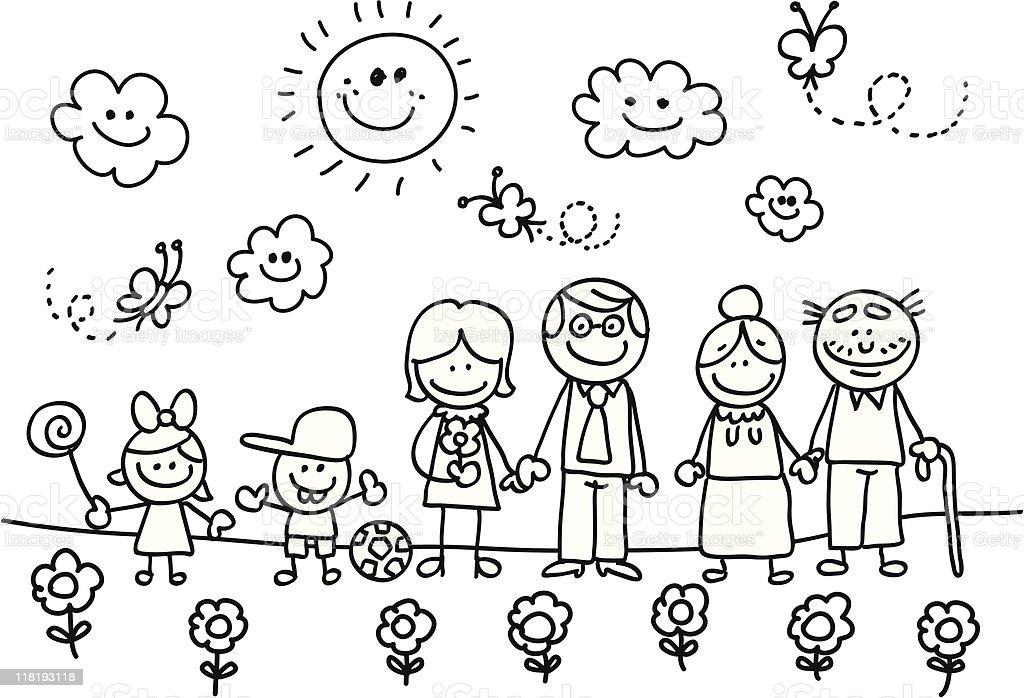 Famille Heureuse Avec Grandmère Votre Père Fils Et Fille