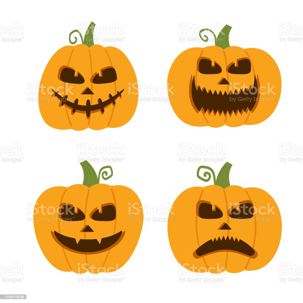 These kids songs are great for learning the alphabet, numbers. Happy Funny Cute And Scary Halloween Pumpkin Set Holidays Cartoon Character Collection Vector Illustration In Flat Style Stock Illustration Download Image Now Istock