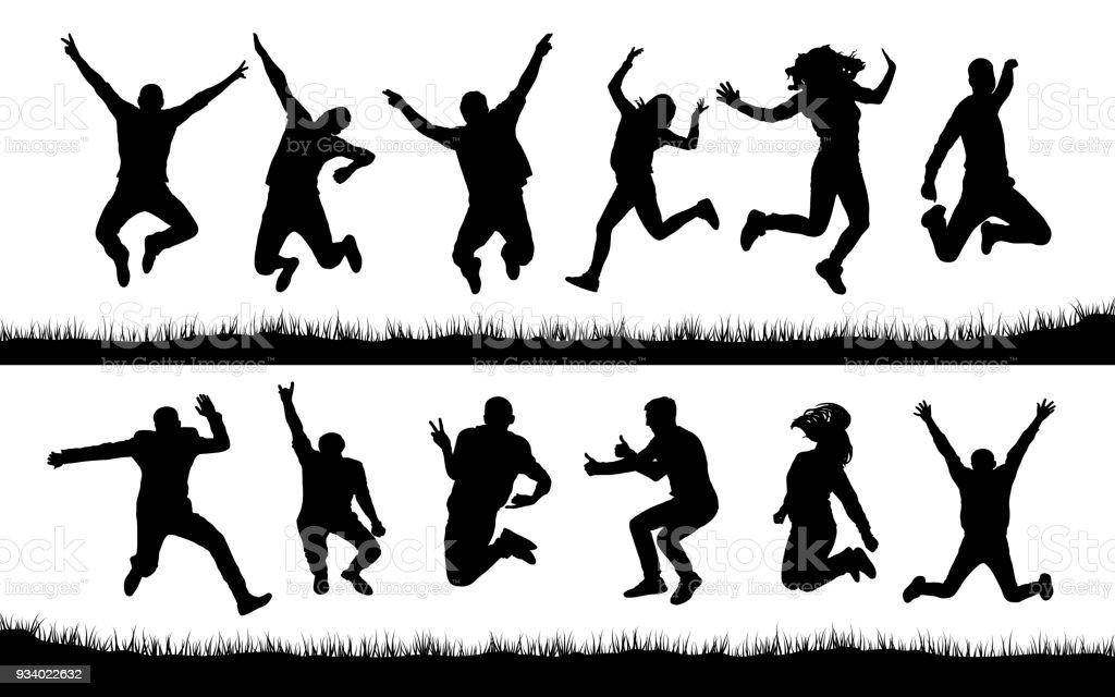 Royalty Free Trampoline Jumping Clip Art Vector Images
