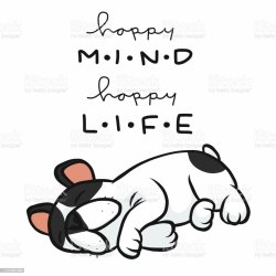 sleeping bulldog cartoon french happy mind vector animal wildlife thailand france body part vectores istockphoto