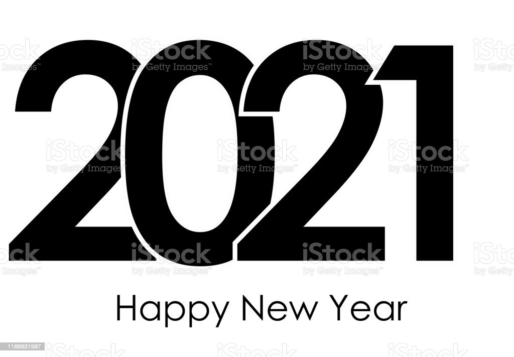 Happy New Year 2021 Logo Text Design Cover Of Business Diary For 2021 With Wishes Brochure Design Template Card Banner Vector Illustration ...