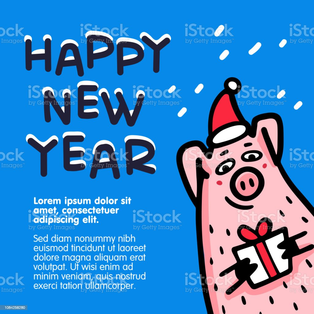 happy new year pig