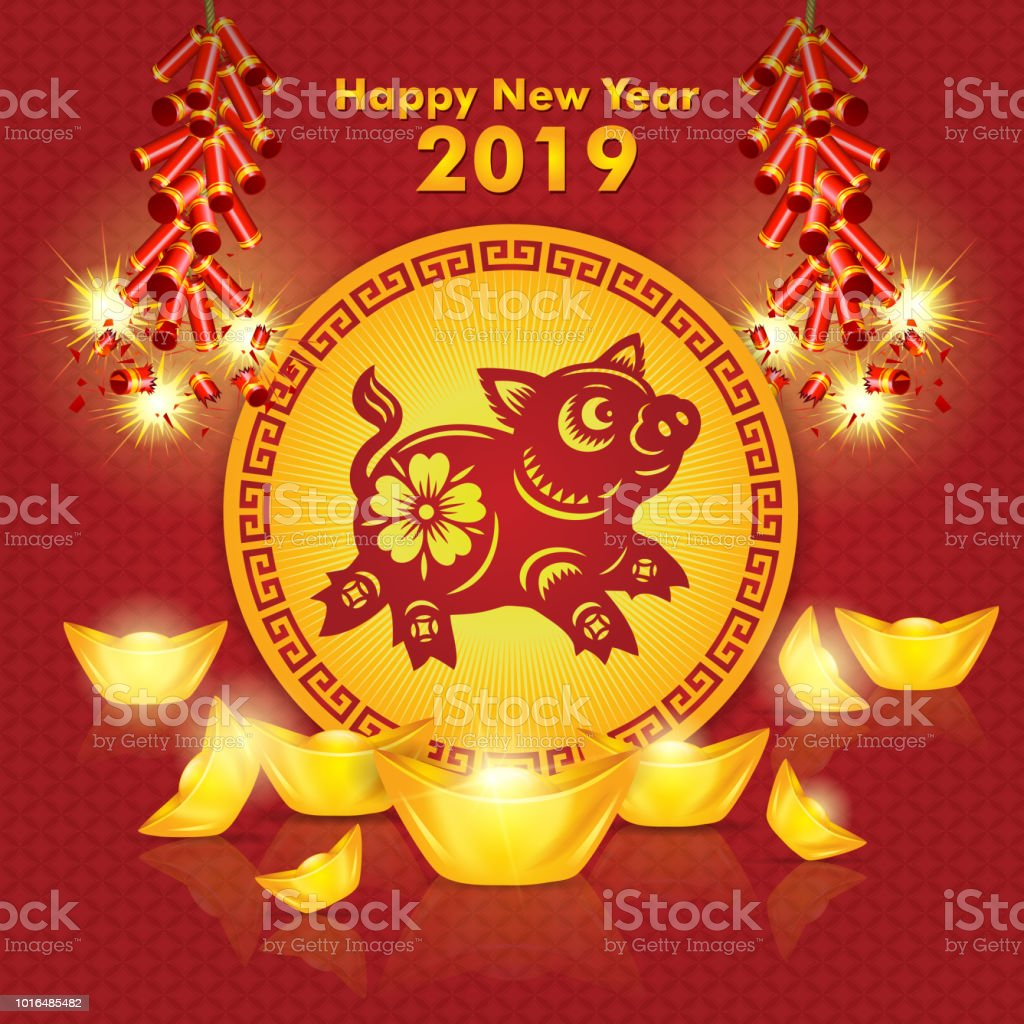 新年快樂 豬年 新年 2019 農曆新年 中國新年向量圖形及更多2019圖片 - iStock