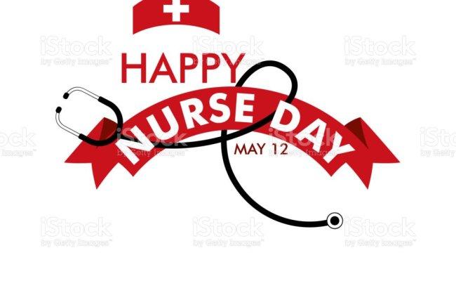 Happy Nurse Day Vector Template Design Illustration Stock