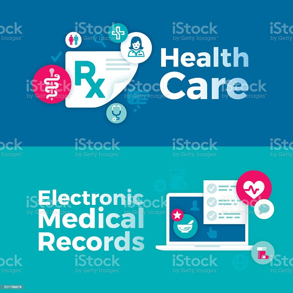 Royalty Free Electronic Medical Record Clip Art Vector