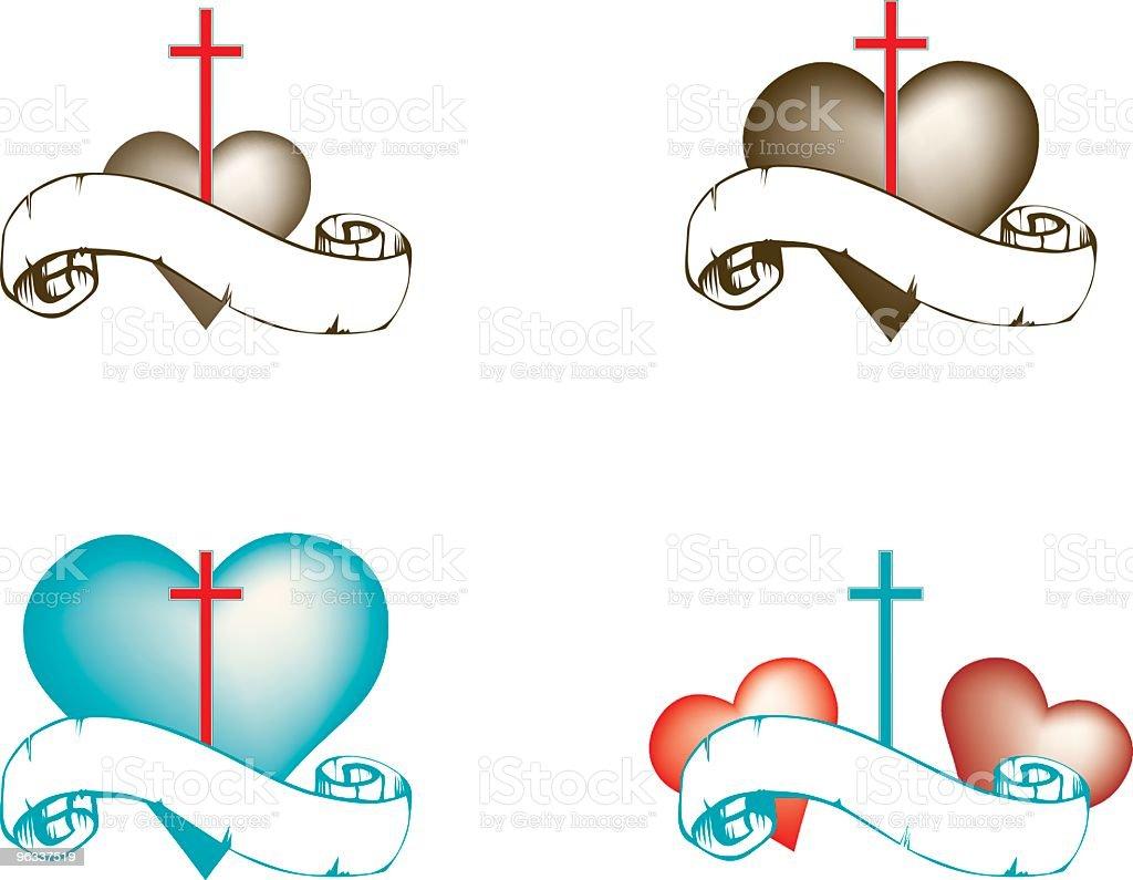 Heart And Cross Logos Vector Stock Vector Art & More