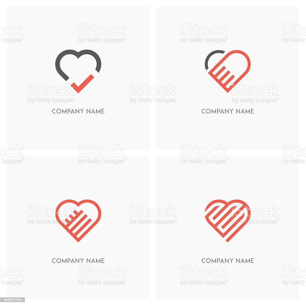 heart and love logo