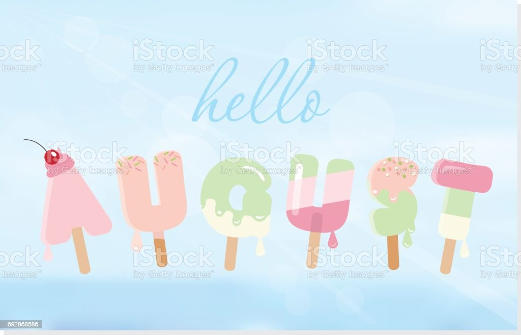 royalty free august clip art vector