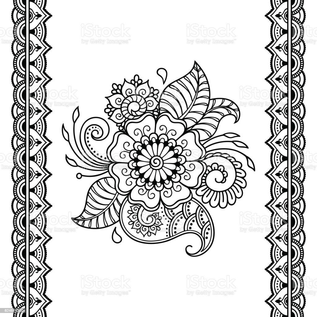 henna tattoo flower template