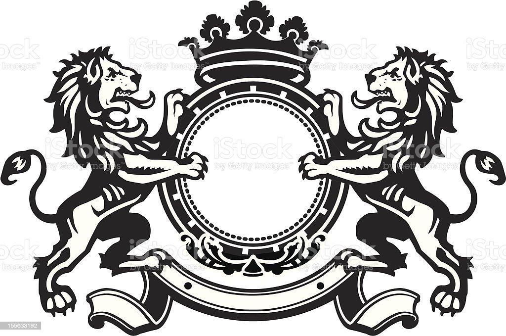 Heraldic Lion Crest 8 Stock Vector Art  More Images of