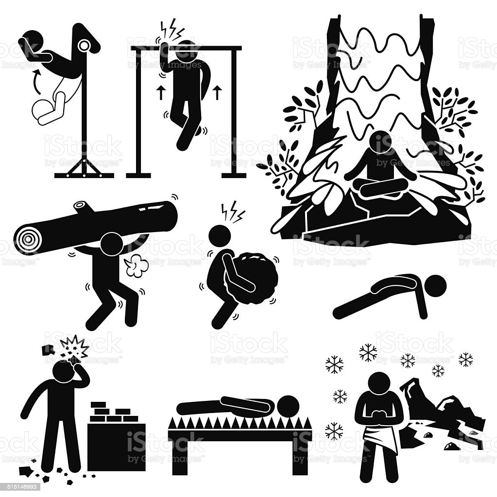 Hermit Extreme Physical And Mental Training Stick Figure