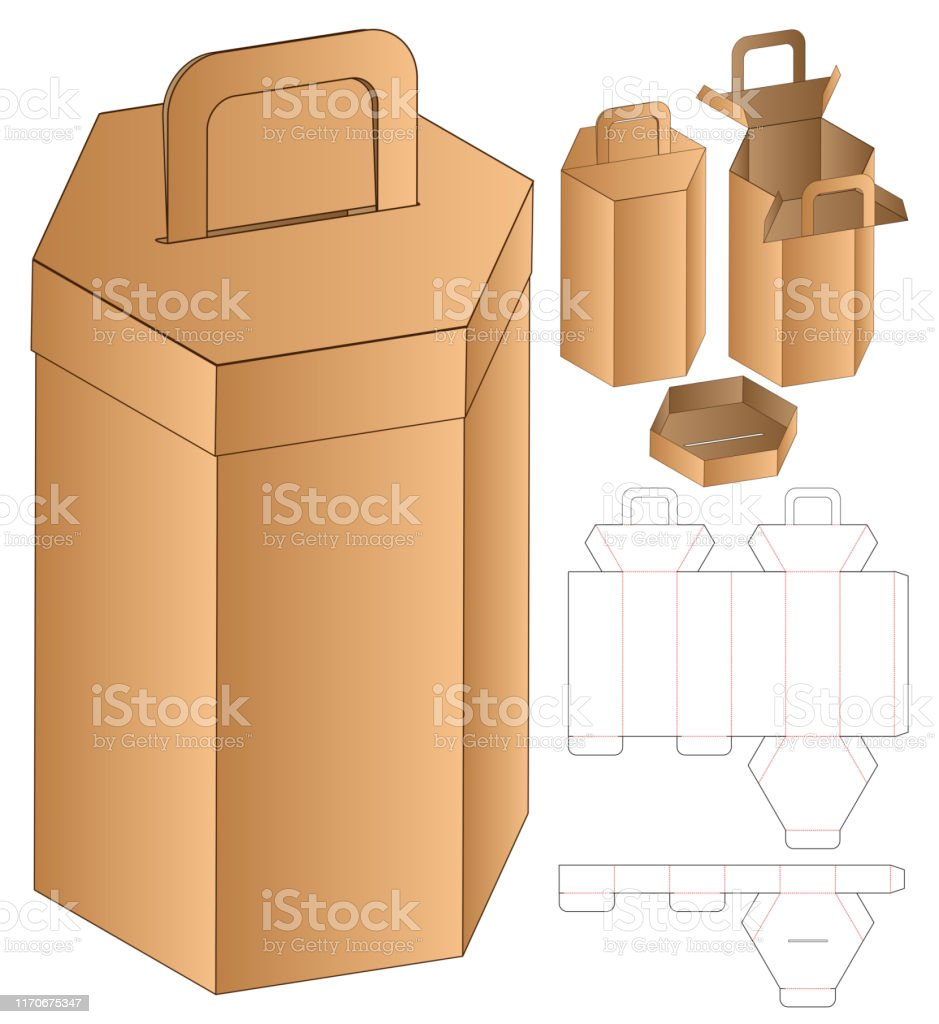 The editable psd file helps the designe… Hexagon Box Packaging Die Cut Template Design 3d Mockup Stock Illustration Download Image Now Istock