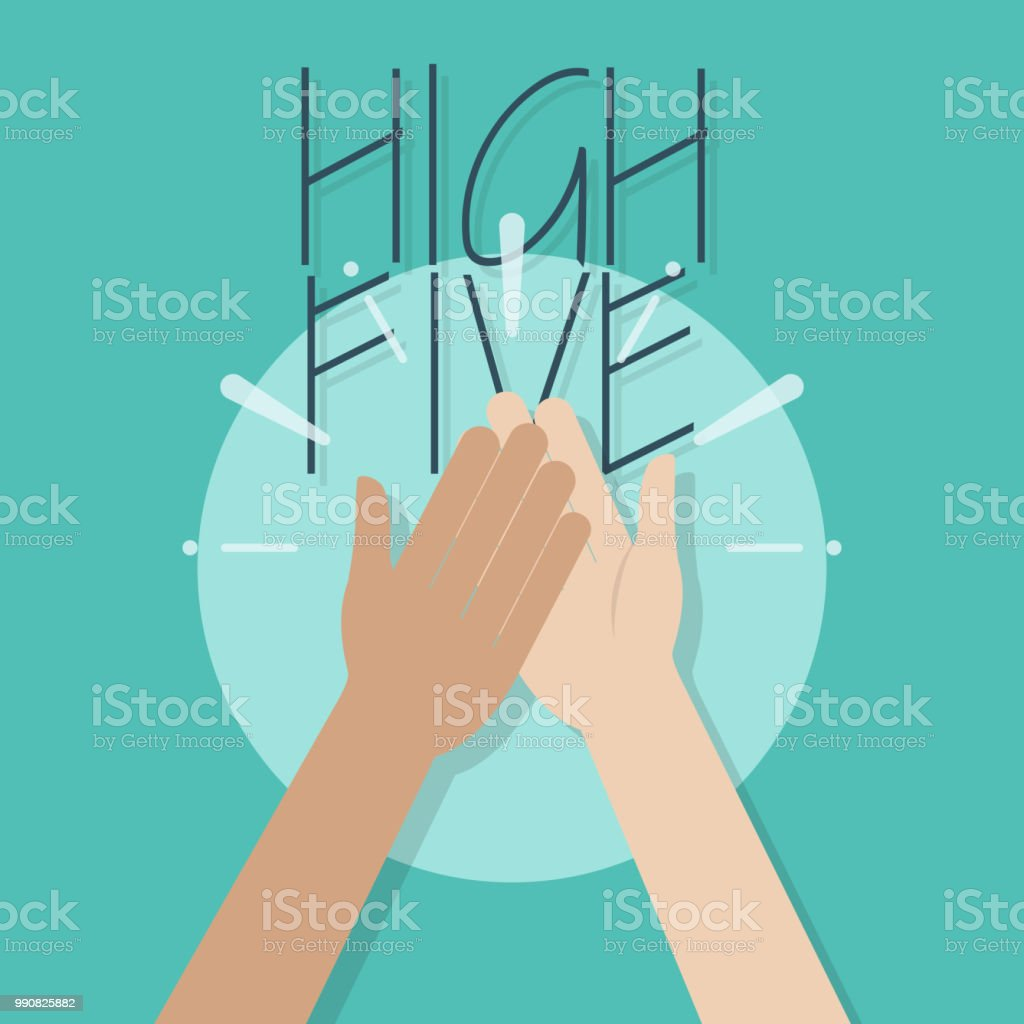 high five illustrations royalty-free
