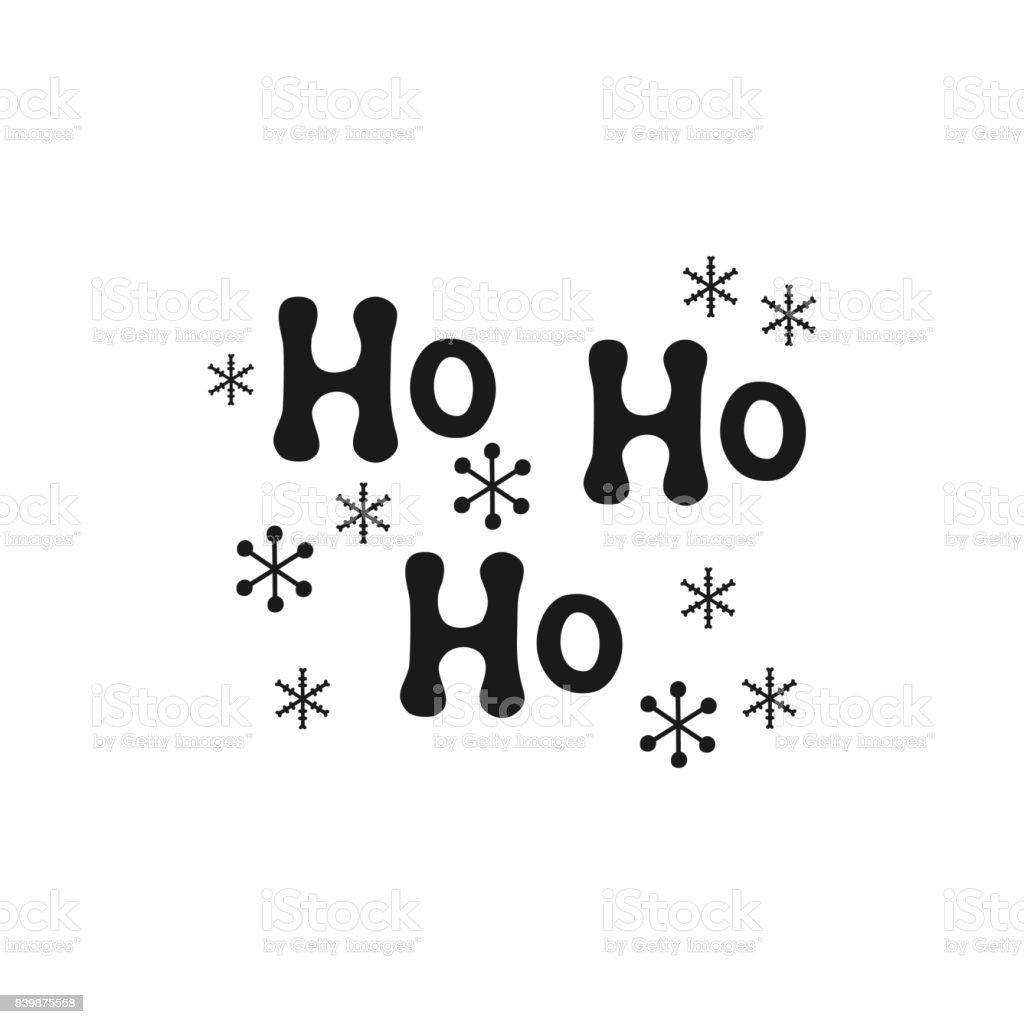 Ho Ho Ho Christmas Calligraphy Phrase Handwritten Brush