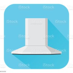 Kitchen Air Hood Designs Kitchens Vent Flat Design Blue Icon Stock Vector Art More Images Of Duct 961540122 Istock