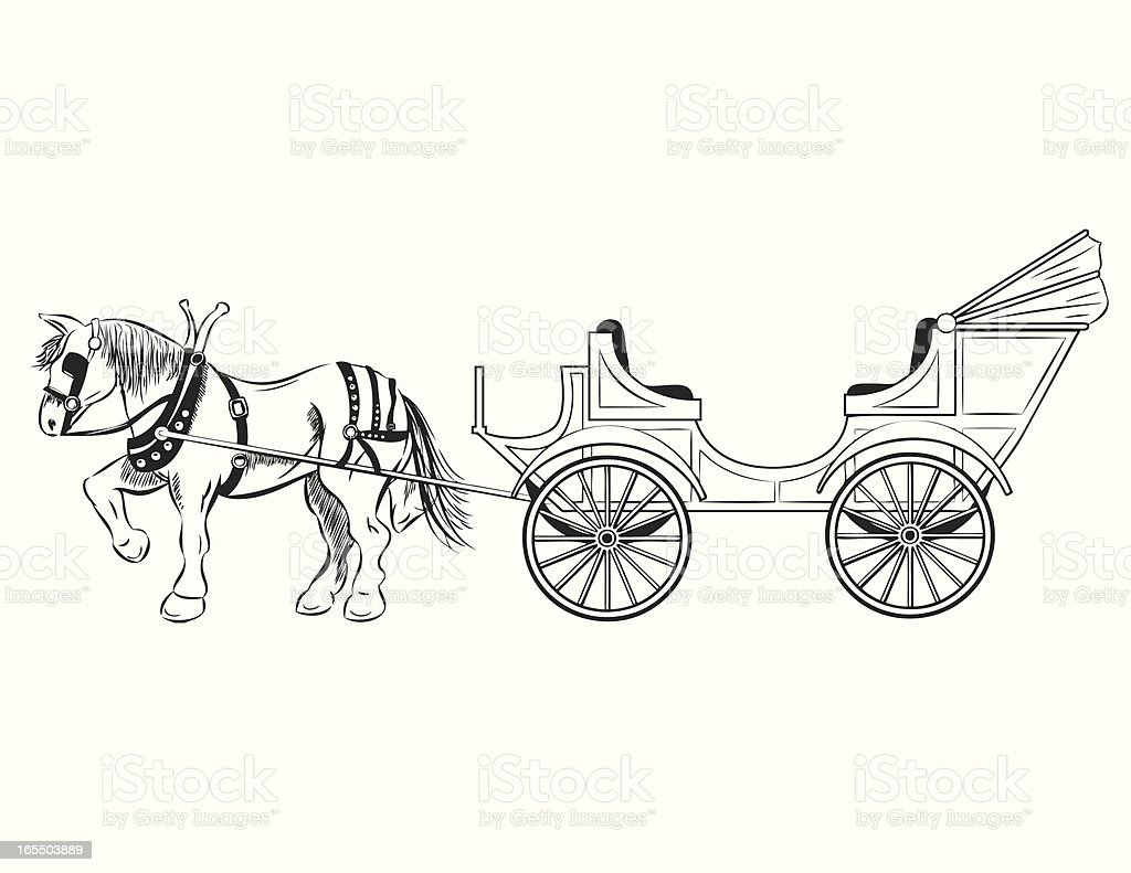 Horse Drawn Carriage Stock Vector Art & More Images of