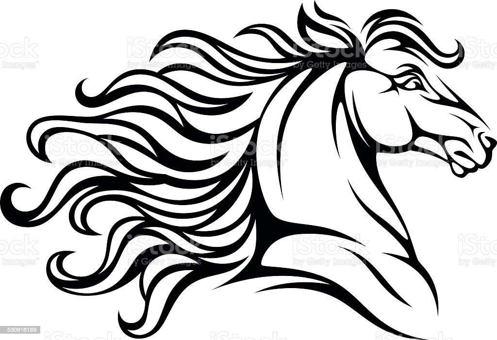 mane illustrations royalty-free