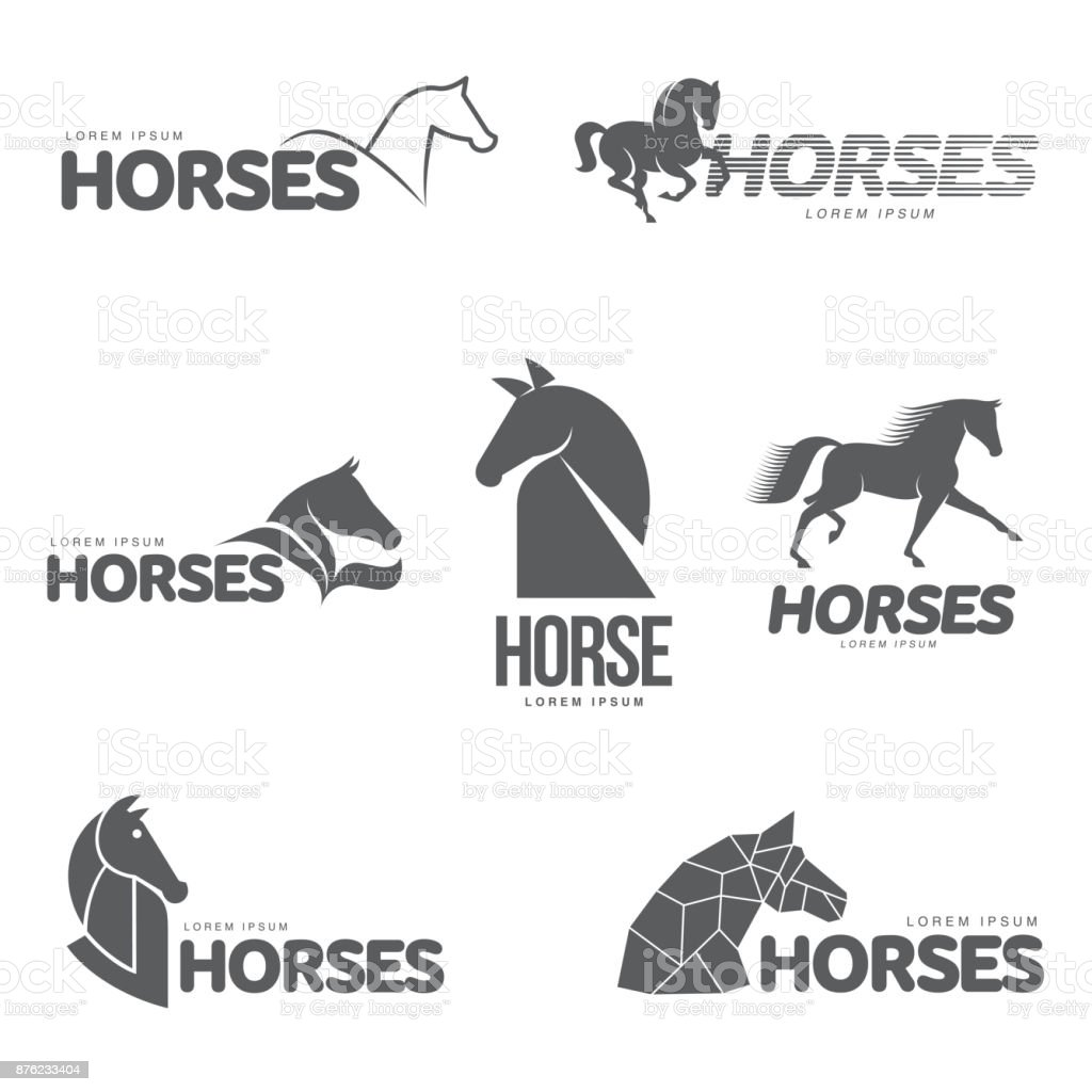 Horse Profile Graphic Template Stock Illustration