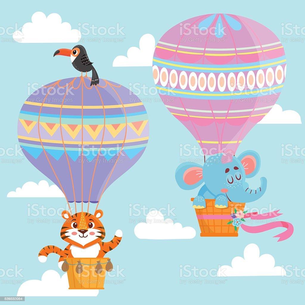 elephant balloon illustrations