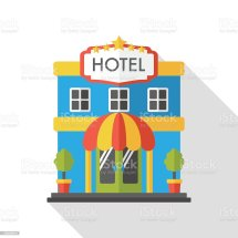 Hotel Flat Icon Stock Vector Art & Of Bed