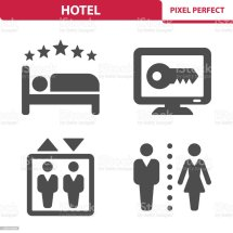 Hotel Icons Stock Vector Art & Of Adult