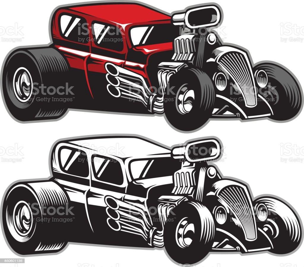 hight resolution of hotrod custom car royalty free hotrod custom car stock vector art amp more images