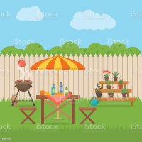 Royalty Free Front Or Back Yard Clip Art, Vector Images ...