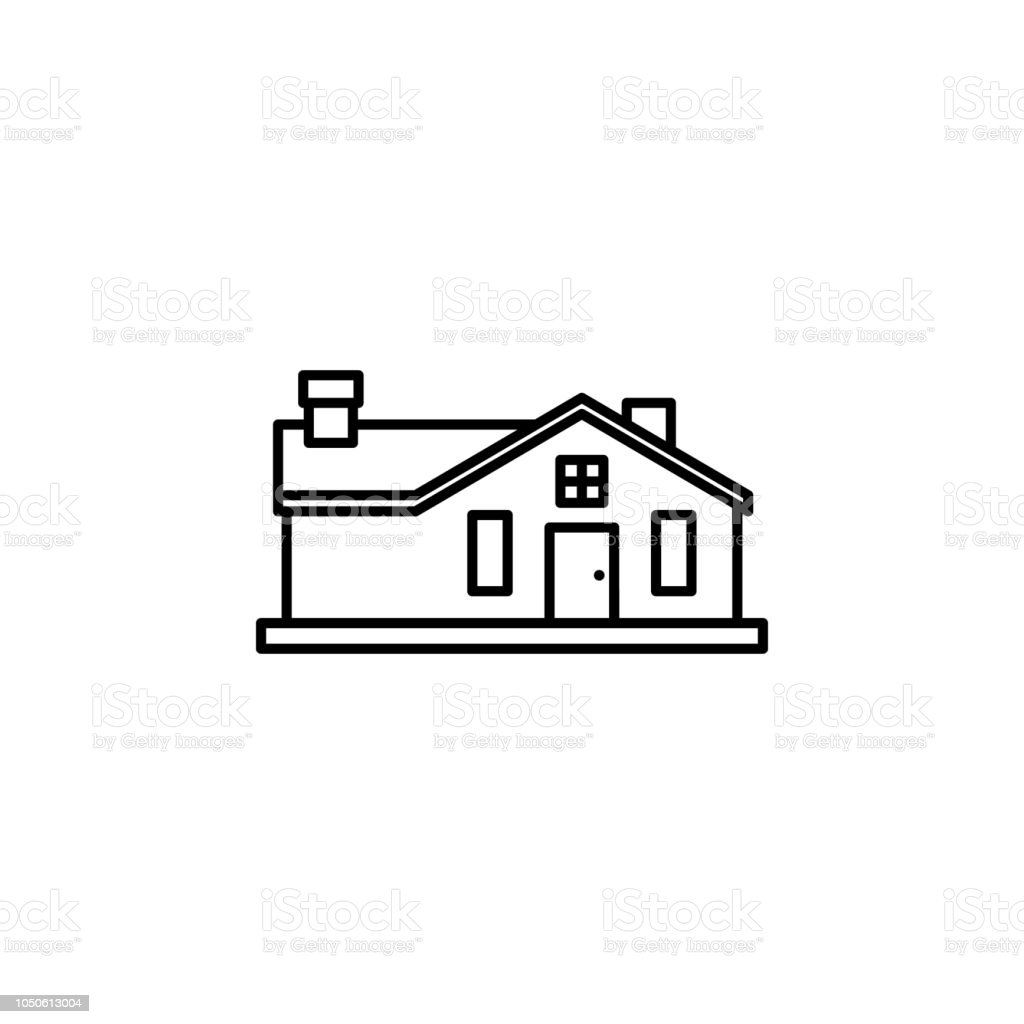House Outline Icon Simple Outline Vector Of Building For