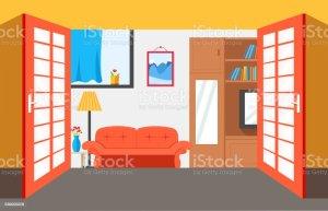 vector illustration interior flat background