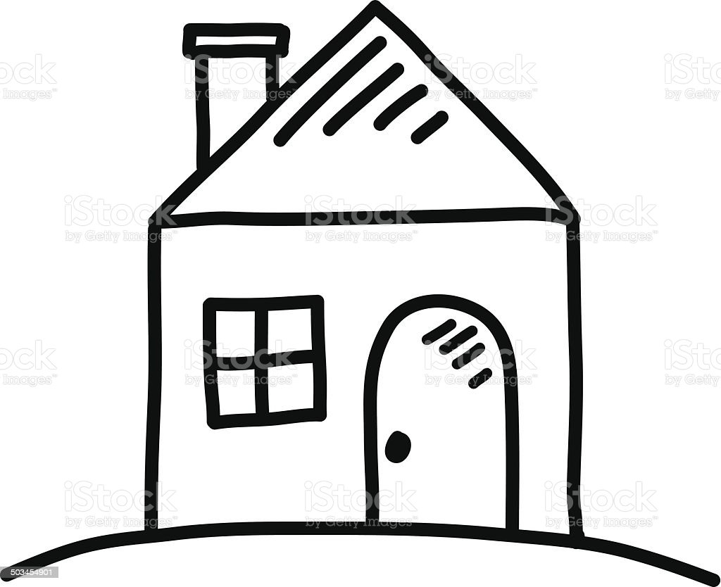 House Sketch Stock Vector Art & More Images of
