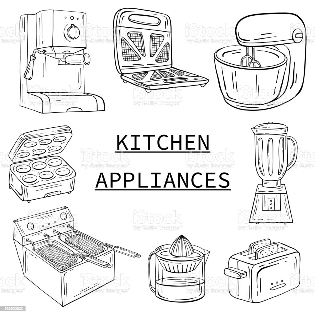 Household Appliances For The Kitchen Cafe And Restaurant