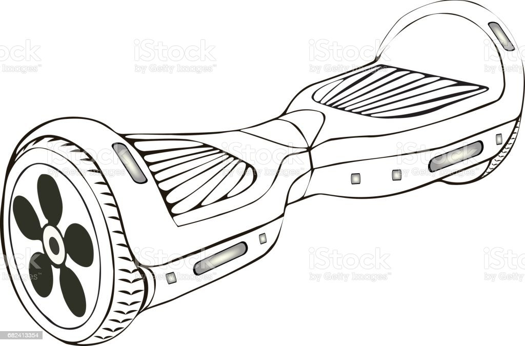 Hoverboard Isolated On White Backgroundvector Illustration