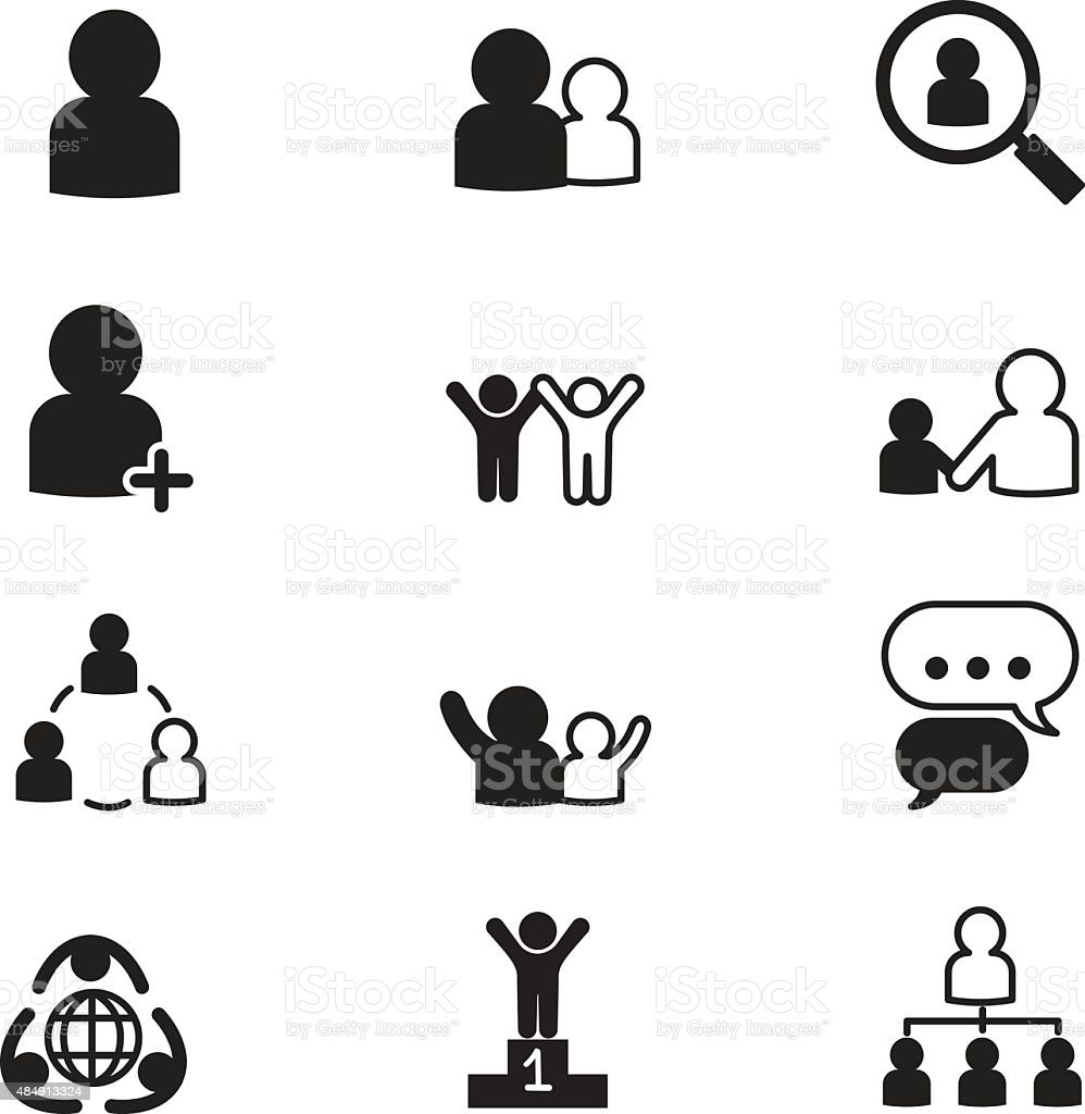 Human Resource Management Icons stock vector art 484913324