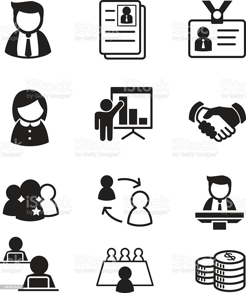 Human Resource Staff Management Icons Stock Vector Art