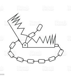 icon of bear hunting trap illustration  [ 1024 x 1024 Pixel ]