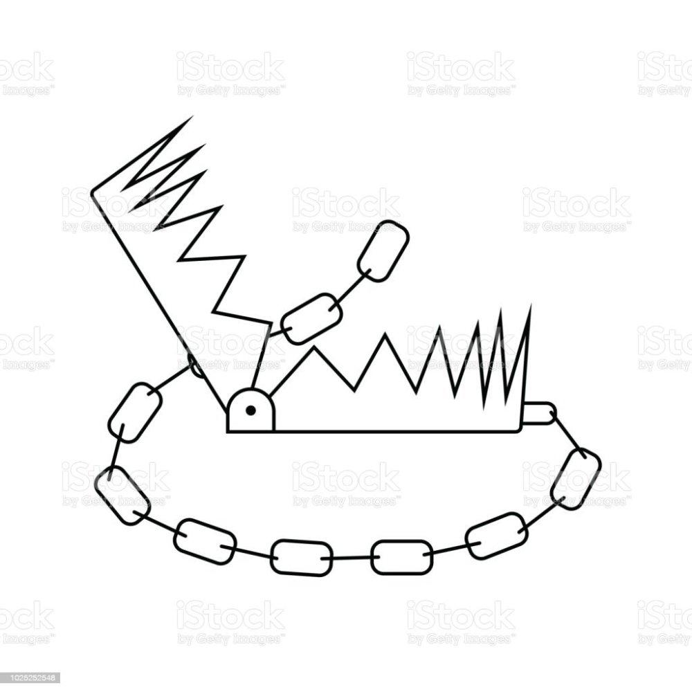 medium resolution of icon of bear hunting trap illustration