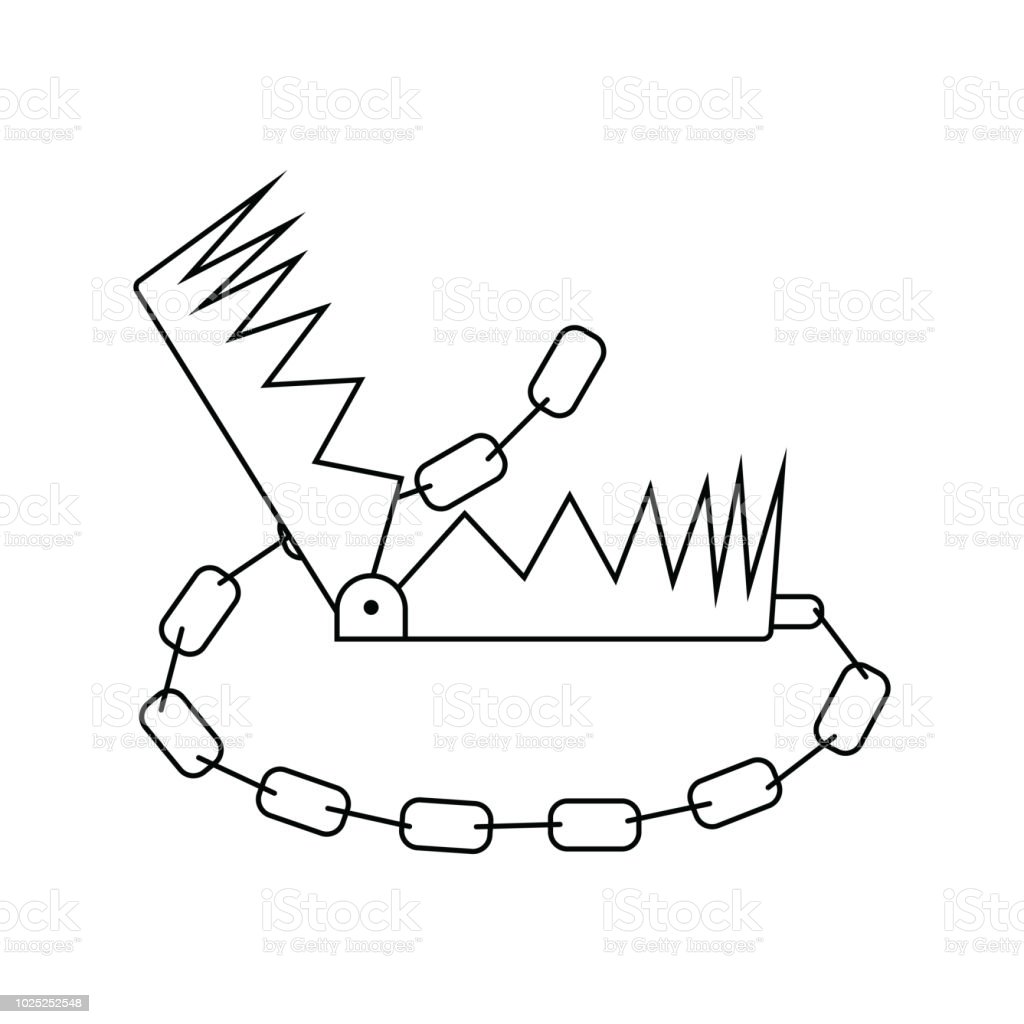 hight resolution of icon of bear hunting trap illustration